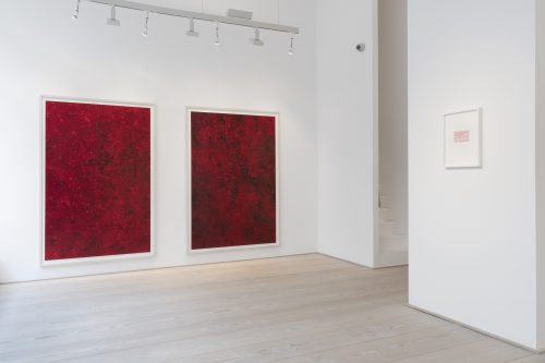 Installation view of GRANULATION with works by Anke Röhrscheid (Photo: Wolfgang Günzel)